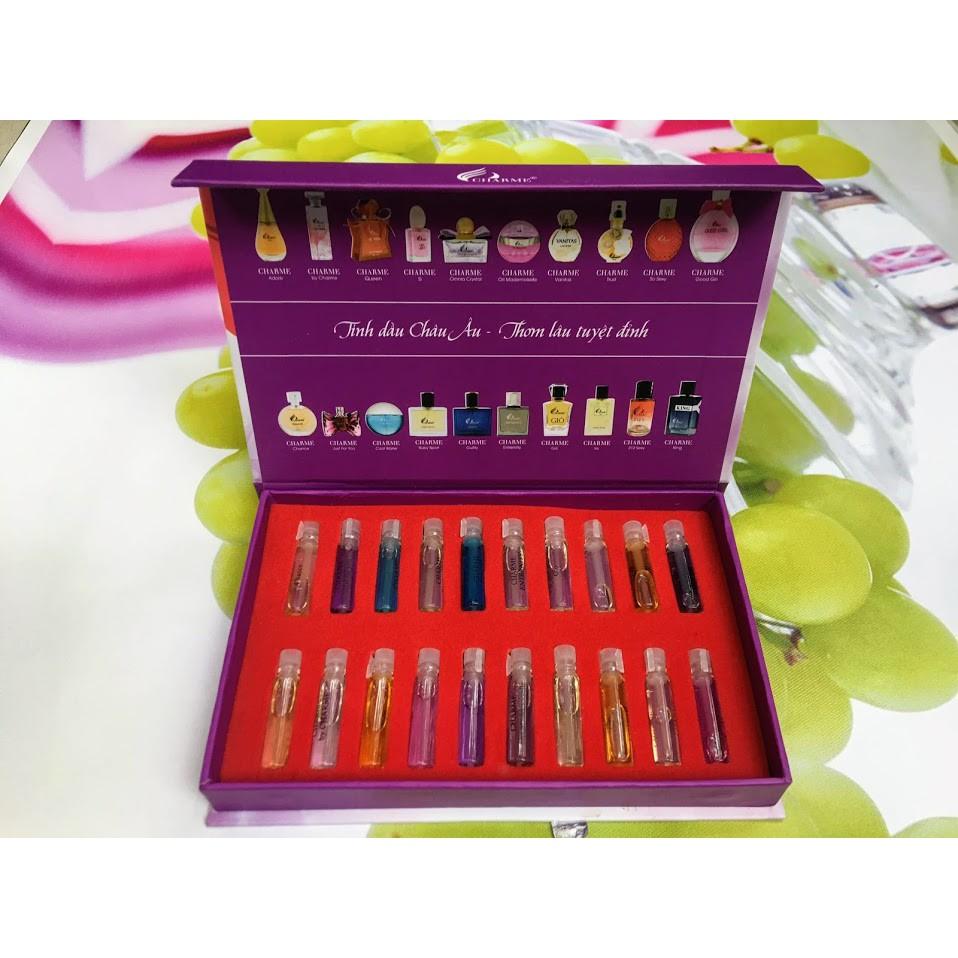Bộ Test nước hoa Charme 20 chai - 20 mùi